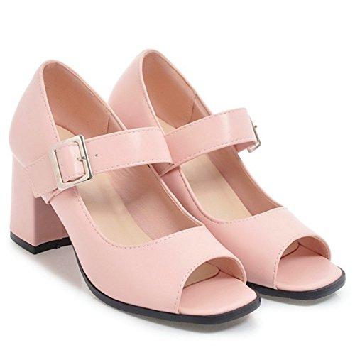 44 Toe Peep TAOFFEN Escarpins Ete Pink Femmes tYwTUqx
