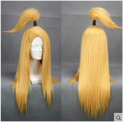 COSPLAZA Akatsuki Deidara largo oro amarillo Cosplay peluca ...