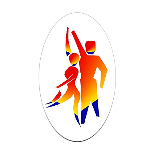 (CafePress Latin Dancers #1 Oval Sticker Oval Bumper Sticker, Euro Oval Car Decal)