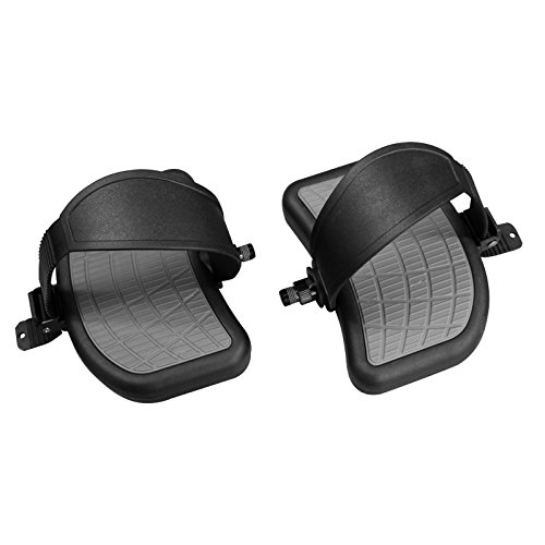 (PAIR - L + R) '' BIKE Pedals - Pair 1/2'' w/Straps | Large HEAVY DUTY Foot Rest - with Adjustable Ratchet Straps | STARTRAC Bikes OEM# 718-5085-KT or 718-5085 (Aftermarket) Replacement | by SBD by SB Distribution Ltd.
