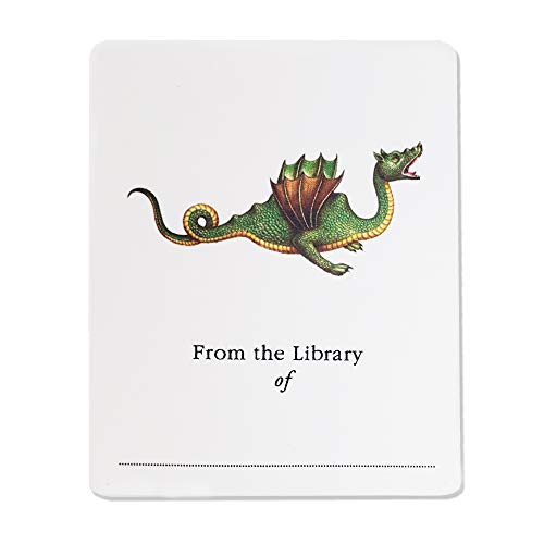 """Bookplate with Dragon Illustration. Set of 10. 3"""" H x 2 1/2"""" W Fill in Style"""