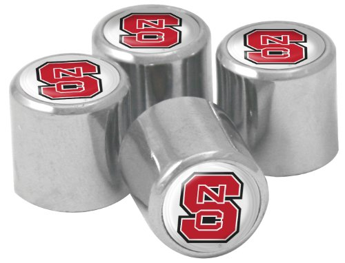NCAA North Carolina State Wolfpack Metal Tire Valve Stem Caps, 4-Pack