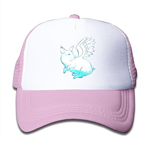 Wing Pig Cartoon Child Unisex Low Profile Caps Adjustable Cap Baseball Mesh Hat