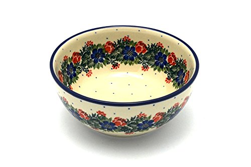 Polish Pottery Bowl - Coupe Cereal - Garden Party - Garden Coupe Cereal Bowl
