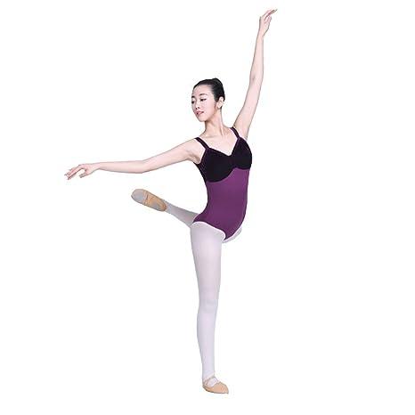 ChengBeautiful Traje de Ballet Medias De Ballet De Costura ...