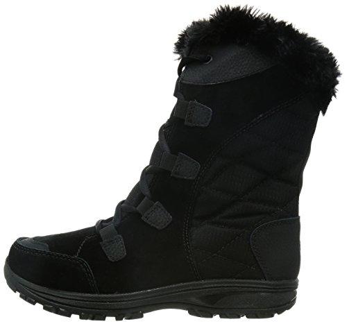 Columbia Women's Ice Maiden Ii Snow Boot, Black, Columbia Grey, 8 B US