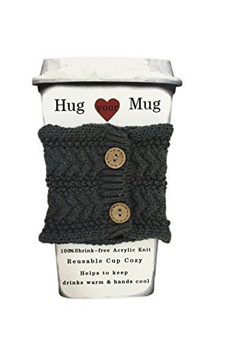 Hug Your Mug Cup Cozy, Reusable Coffee Sleeve Hand Protector Drink Grip for Paper Cups ()