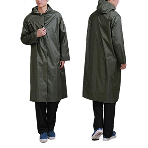 Rain Poncho for Men,C.A.Z Large Reusable Thicken Raincoat Rain Poncho for Adults (Long Raincoats For Men With Hood compare prices)