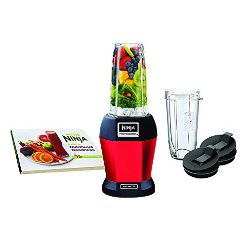 Nutri Ninja Pro Personal Blender with 900-Watt Base and Vitamin/Nutrient Extraction for Shakes and Smoothies with 18 and 24-Ounce Cups (BL456R), Red