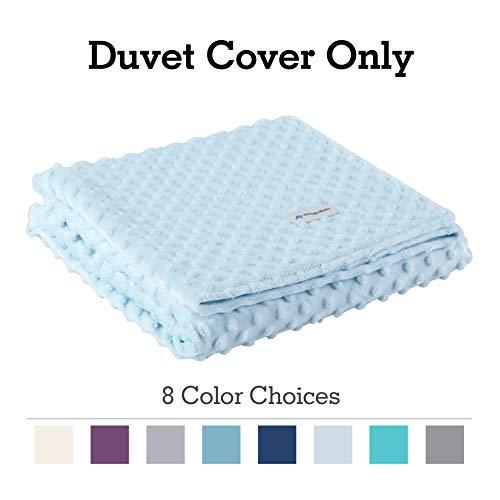 (ALPHA HOME Removable Duvet Cover for Weighted Blanket, Crystal Velvet Material, Reversible Design, 48