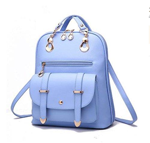 LINNBER - Bolso mochila  de Otra Piel para mujer Azul-1
