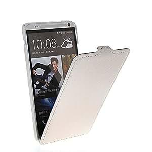 FCKASE Carbon Fiber Carcasa Cuero del tirón la cubierta protectora Funda Tapa Case Para HTC One Max T6 Negro