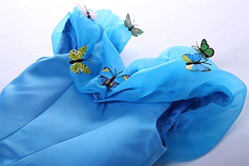 Fantasia 3 Del Ragazze Pettigirl Costume Anni Regina Da Blu Della Blu Abito 11 Principessa Farfalle Abiti qf7Pxp