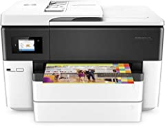 This full-featured wireless all-in-one delivers professional-quality color for up to 50% lower cost per page than lasers. Stay productive and tackle high-volume print jobs with print, fax, scan, and copy versatility. Finish jobs in a snap wit...