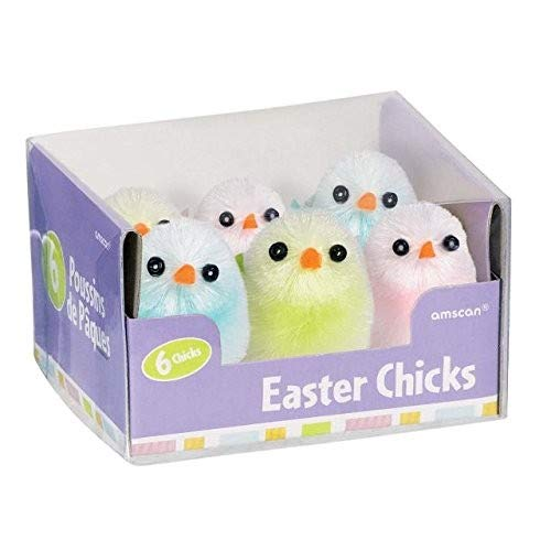 amscan Easter Chicks, 6 Ct. | Assorted Colors | Party Favor