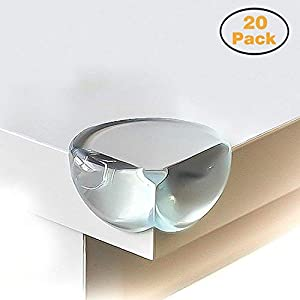 Calish Safety Corner Protectors for Kids (20pcs – Large – Clear), Table Edge Bumper Guards for Child and Baby Proofing…
