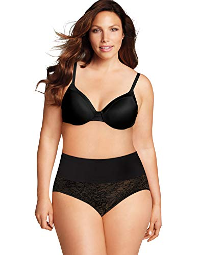 Maidenform Plus Size Tame Your Tummy Brief, 3X, Black Lace