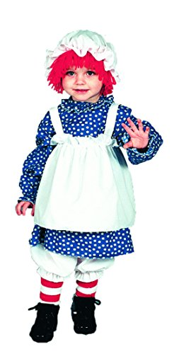 Girls Raggedy Ann Kids Child Fancy Dress Party Halloween Costume, S (4-6) (Toddler Raggedy Ann Costume)