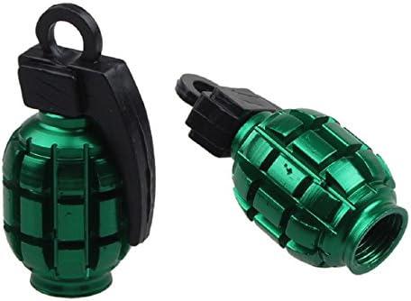 Malloom® 2 PCS aleación granada protector tapones de las válvulas ...