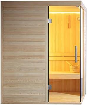 Sauna AWT E1804B - Horno para sauna (madera de pino, 150 x 120 cm): Amazon.es: Bricolaje y herramientas