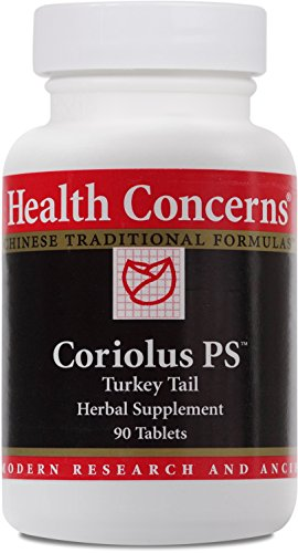 Health Concerns - Coriolus PS - Turkey Tail Herbal Supplement - 90 Tablets