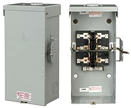 ge energy industrial solutions tc10323r ge outdoor double polege energy industrial solutions tc10323r ge outdoor double pole double throw safety switch, 100 amp circuit breaker panel safety switches amazon com
