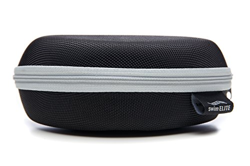 (Grey Swim Goggle Case Hard Protective Carrying Case (Gray Line))
