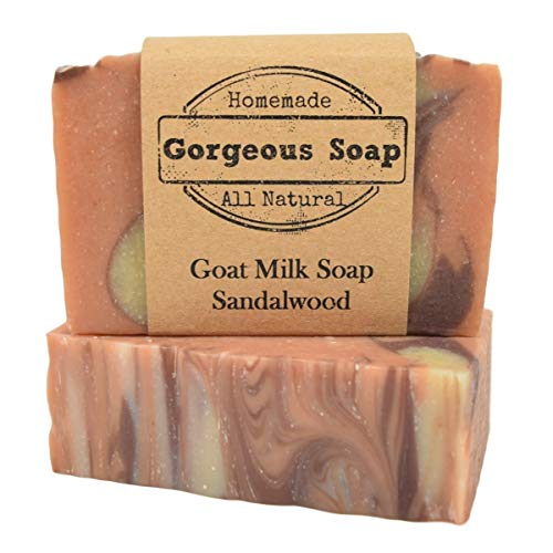 (Sandalwood Goat Milk Soap - All Natural Soap, Handmade Soap, Homemade Soap, Handcrafted Soap)