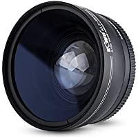 52mm 0.45x Wide Angle Conversion Lens with Macro for Nikon D3400/D3300/D3200/D5600/D7000/D7100/D7200/D7500/D850, for Fuji Fujifilm X-T2/X-T20/X-T10/X-PRO2 and Other Camera Lens with 52mm Filter Thread