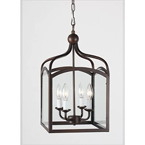 Ashley Antique Copper 4-light Foyer Hanging Lantern - Ashley Antique Copper 4-light Foyer Hanging Lantern - Chandeliers