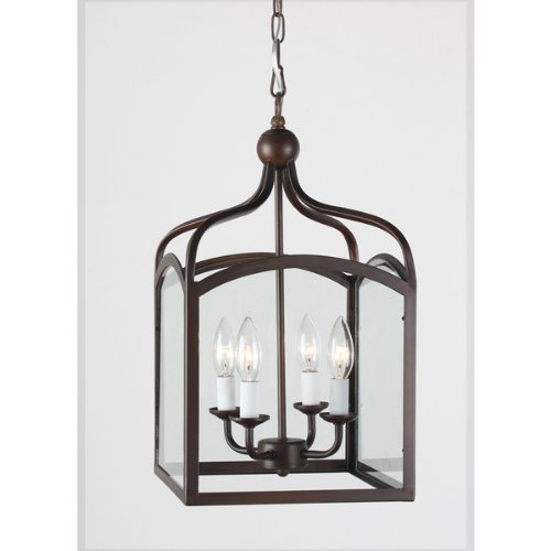 Lantern chandelier lighting amazon ashley antique copper 4 light foyer hanging lantern mozeypictures Images