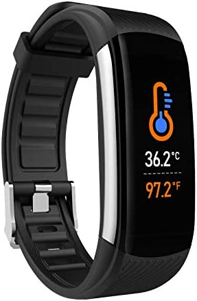 UMO Intelligent Bracelet, Multifunctional Temperature Measuring, Fever Detection Waterproof Smart Watch, Smartband, Heart Rate, Pedometer, Activity & Fitness Trackers 1