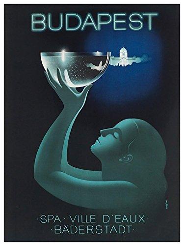 Amazon com: Budapest Hungary Vintage Travel Poster Art Print