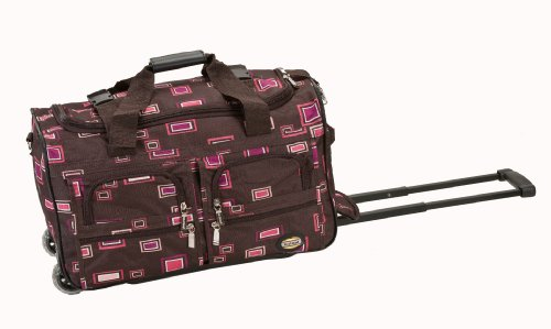 rockland-luggage-22-inch-rolling-duffle-bag-chocolate-one-size