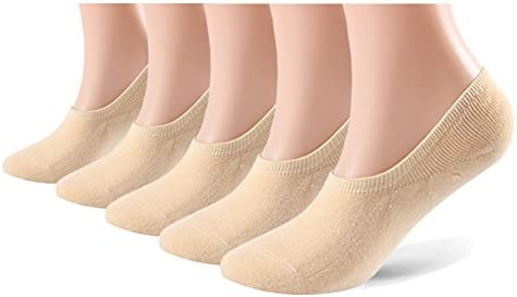[Sponsored] No Show Socks for Men & Women – 5 pairs of Low Cut Anti-skid with Silicone Athletic and Casual Sneakers Loafer Sport Socks