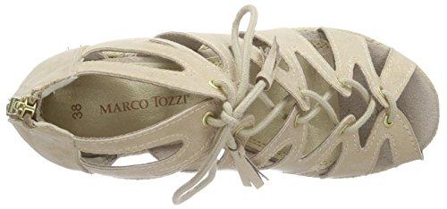 Marco Tozzi28370 - Sandalias Romanas Mujer Plateado - Silber (PLATINUM 957)