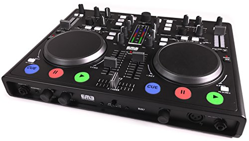 Professional Dj Dual Cd Player (EMB - DJX7 - NEW Professional DUAL MP3 Mixer DJ Scratch Midi Controller! Virtual DJ Software included! (Matte Black))