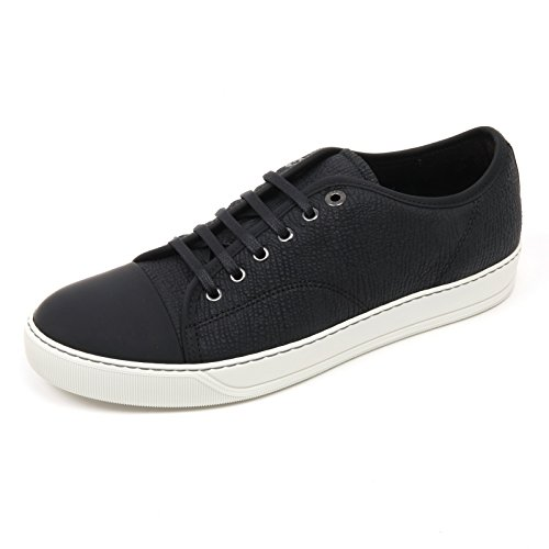C2858 sneaker uomo LANVIN VERE scarpa nero low top shoe man Nero