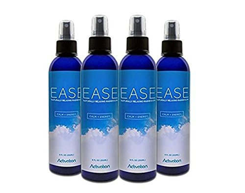 Activation Products – EASE Magnesium Spray – Pure Magnesium for Joint and Muscle Pain, Leg Cramp Relief – Sleep Supplement for Restless Leg Syndrome Relief - Includes eBook, 8 ounces, set of 4 b