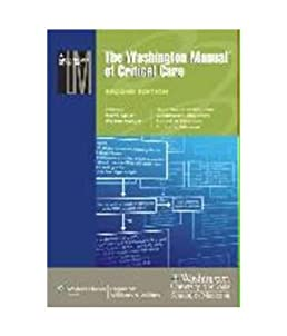 buy the washington manual of critical care book online at low prices rh amazon in Washington Manual Inpatient the washington manual of critical care 2nd 2012 pdf