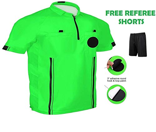 (One Stop Soccer Official Referee Soccer Jersey Medium/Green)