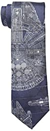 Star Wars Men\'s Millennium Falcon Tie, Blue, One Size