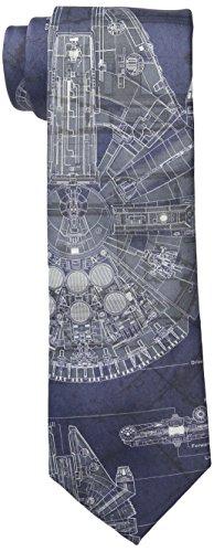 Star Wars Men's Millennium Falcon Tie, Blue, One Size (Star Wars Tie)