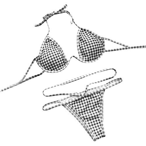 schön HUIHUI Badeanzug Damen 2019 Bikini Set Push up Tankinis große größen 85 e bademode badekleid Monokini mit bügelSwimsuit Schwarz GhAqiVXF