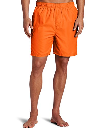 Kanu Surf Men's Havana Swim Trunks (Regular & Extended Sizes), Orange, Medium
