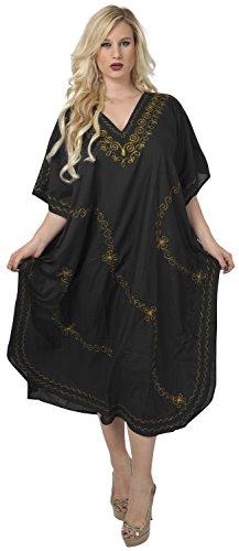 long kimono plus maxi beachwear bain la kaftan La tout main nightclassic batik pures des 1 coton Leela soire aloha femmes dames la long robe casuals maillot p270 en lache couvrent Noir robe taille classique qaxqFgv4