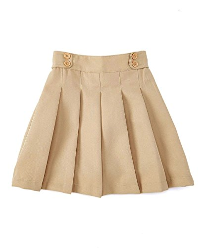 unik Girl Pleated Uniform Scooter Khaki Size 10