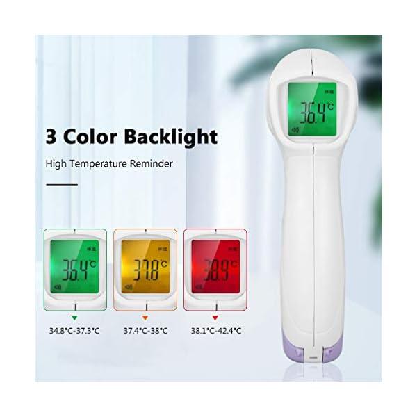 Homgrace Termómetro Frontal de Bebe Niños, lecturas precisas instantáneas, termómetro Digital infrarrojo sin Contacto Profesional, para bebés, niños, Adultos 4