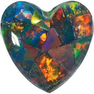 5 mm Heart Cabochon-Cut Gilson Created Mosaic Triplet Opal Loose Stone for Jewelry Making - Jewelry By Sweet Pea