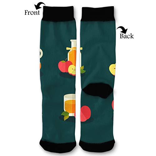 Apple Cider Slush Vector Socks Funny Fashion Novelty Advanced Moisture Wicking Sock for Man Women